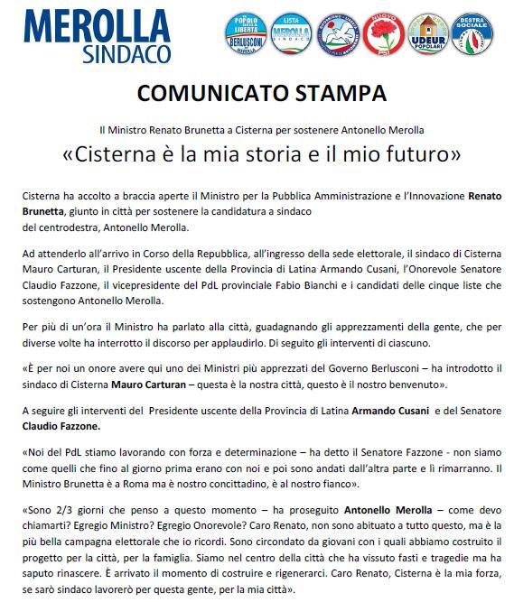 Visita ministro Brunetta