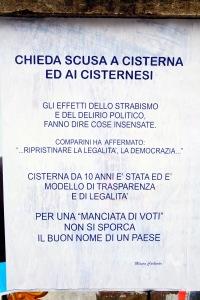 Il manifesto apparso oggi