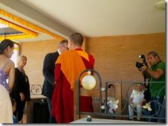 Il sindaco incontra i monaco buddisti