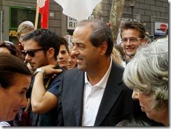 Antonio Di Pietro, ieri alla manifestazione